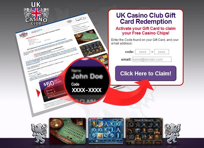 Alles über die kostenlose Geschenkkarte von UK Casino Club