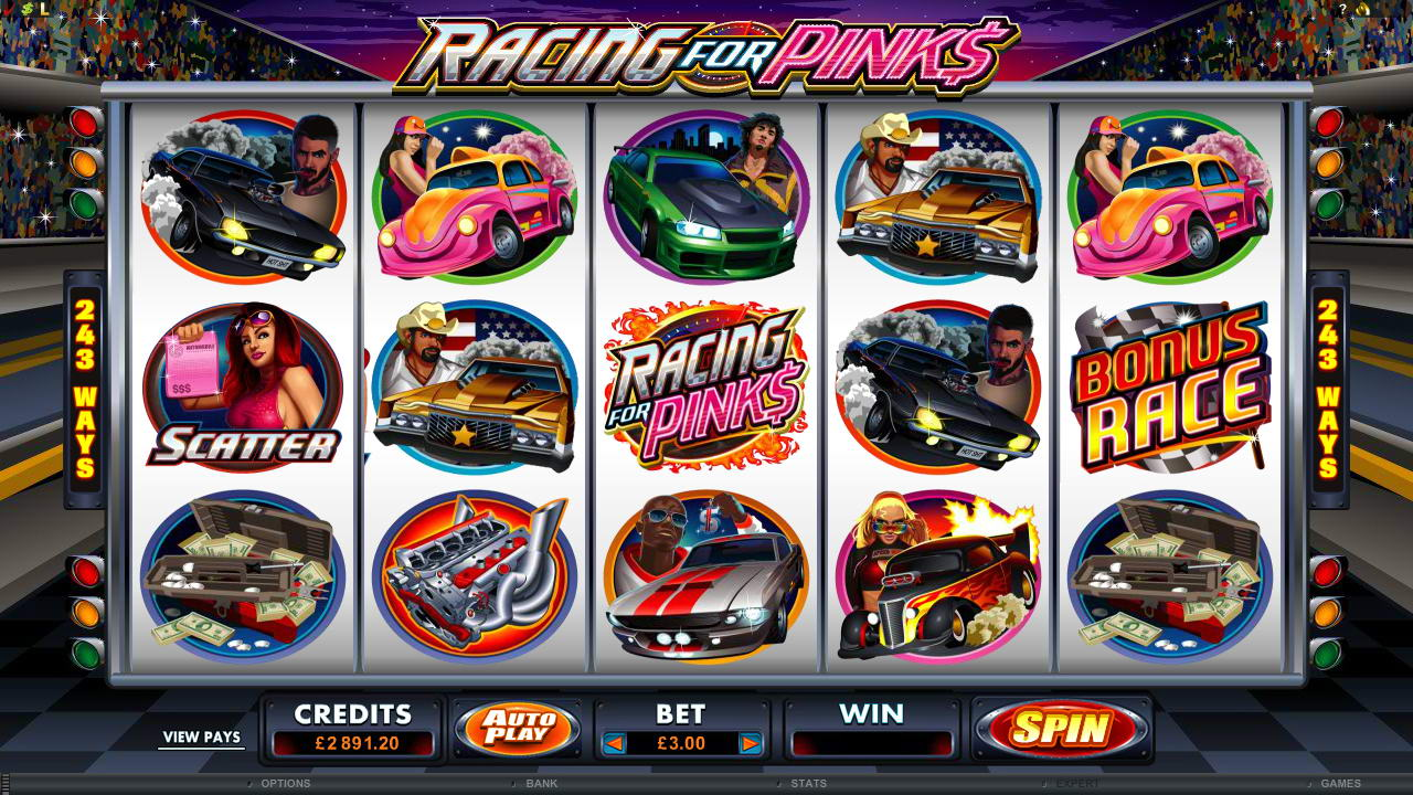 PS-starke Action beim neuen Slot-Hit Racing for Pinks