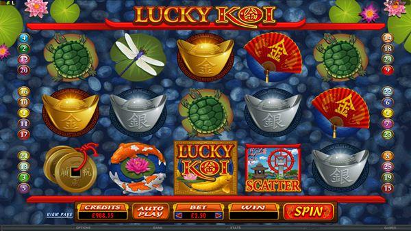 Lucky Koi sorgt für exotisches Flair im Online Casino
