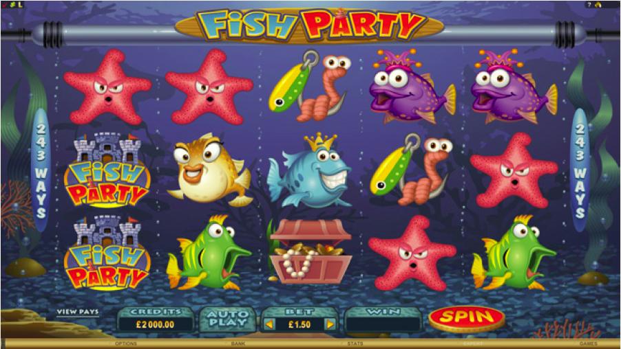 Fish Party – jetzt sind im Online Casino die Fische los