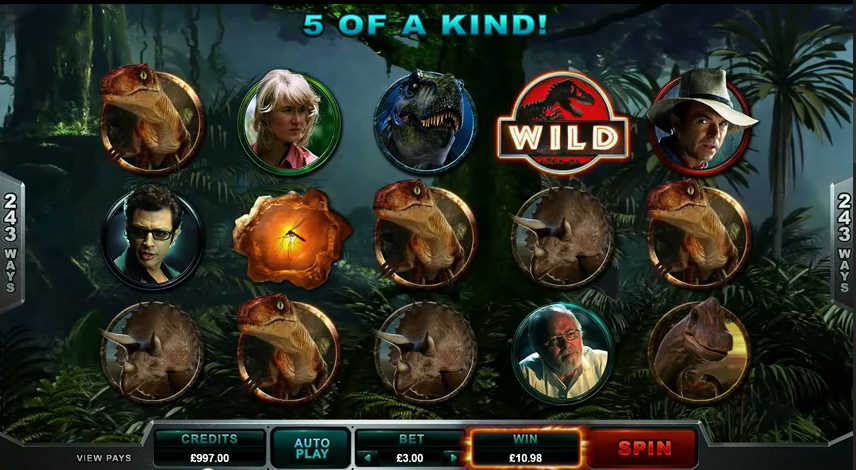 Im Online Casino sind die Dinosaurier los – Jurassic Park ist da!